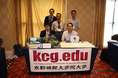 Mr. Emi, Mr. Kobayashi, and other KCGI teachers at IMS conference in Baltimore, U.S.A. from May 21 to 24, 2018.